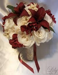 Burgundy Wedding Centerpieces by 4 Centerpieces Wedding Table Decoration Center Flowers Vase Silk