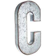 metal letters wall decor wall metal letter galvanized c large galvanized metal letter house stuff pinterest metals