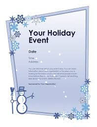 winter holiday event flyer office templates