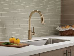 Delta Hands Free Kitchen Faucet by Trinsic Kitchen Collection Kitchen Faucets Pot Fillers And