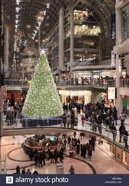 Commercial Christmas Decorations Ontario Canada by Christmas Shopping Eaton Centre Toronto Canada Stock Photo