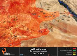 Syria Map Control by Syria Map Update Syrian Army Is 14 Km To Deir Ezzor Muraselon