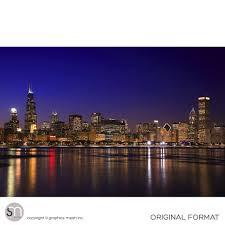 chicago night skyline wall mural graphicsmesh chicago night skyline wall mural original