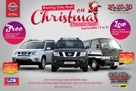 nissan urvan 2014 countdown to christmas early gifts this ber month team nissan