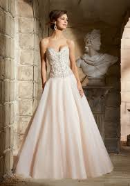 crystal beaded embroidery on tulle morilee bridal wedding dress