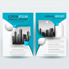 brochure template business brochure template with teal geometric vector free