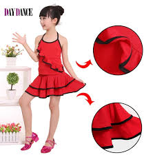 girls kids junior latin dresses hang neck children ballroom