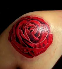 gaeroladid white and red rose tattoo images