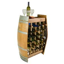 24 bottle narrow wine rack wine barrel furniture