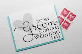 to my groom on our wedding day card wedding card wedding day card groom card fiance card husband