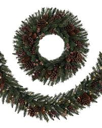 battery lighted fall garland california baby redwood artificial wreaths garlands swag