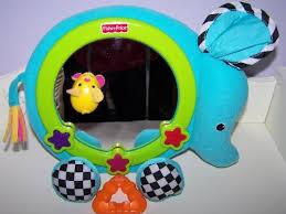 round crib fisher price rhymes go round mirror toy