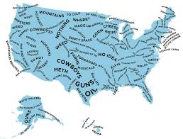 in us map the stereotype map of every u s state according to