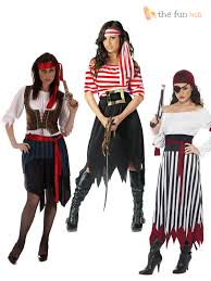 Halloween Costumes Pirate Woman Ladies Pirates Fancy Dress Costume Caribbean Pirate Lady Womens