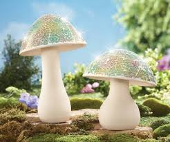 buy mosaic garden mushrooms lawn ornaments in cheap price on