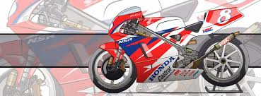 honda nsr 125 racing cafè motorcycle art honda nsr 250 gp 1994 by evan