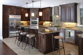 Espresso Kitchen Cabinets by Kitchen Kitchen Interior Luxury Espresso Kitchen Cabinets With
