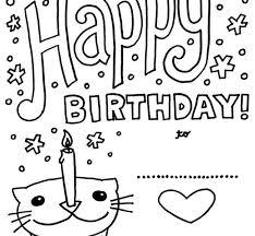 printable birthday cards to color free printable birthday cards