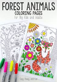 easy peasy coloring page forest animals coloring pages easy peasy animal and easy