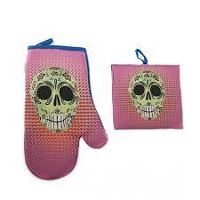 bureau d ude m anique gant de cuisine manique tête de mort mexique amazon fr handmade