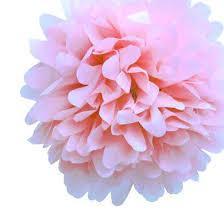 floral tissue paper flower tissue paper pom poms fluff light pink tissue paper pom