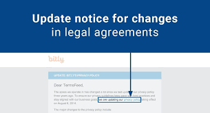 Change Of Address Announcement Letter Update Notice For Changes In Legal Agreements Termsfeed