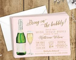 mimosa brunch invitations chagne invites etsy