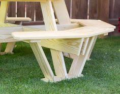 Red Cedar Octagon Walk In Picnic Table by Bar Height Picnic Table W The Burn Look To It 2x6 And 2x4 250