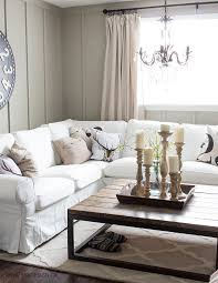 ektorp sectional with white slipcovers for the living room
