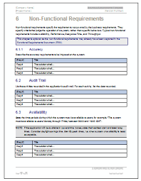business requirements specification template ms word excel visio