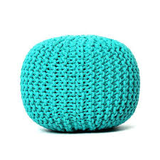 Ottoman Knitted Fascinating Knitted Pouf Ottoman Knit Pouf Knitted Ottoman World