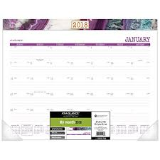 desk pad calendar 2018 at a glance monthly desk pad calendar january 2018 december 2018