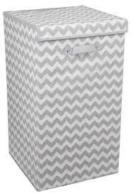 Kids Laundry Hampers by Amazon Com Home Basics Chevron Laundry Hamper With Handle Grey