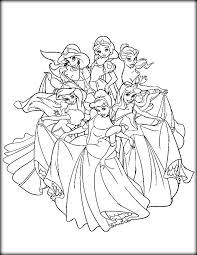 disney princess coloring pages print free color zini