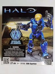 mega bloks halo eva spartan 29766 blue figure soldier new mint ebay