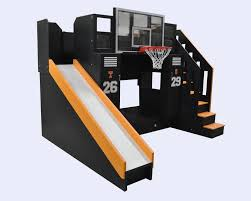 Slide Bunk Bed The Ultimate Basketball Bunk Bed Backboard Slide And More