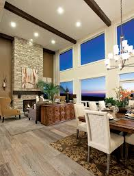 Two Story Fireplace Featured Community Belvedere At Bellevue Washington Toll Talks