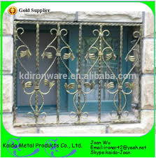 morden ornamental wrought iron steel window grates grills design