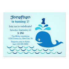 blue whale birthday invitations u0026 announcements zazzle