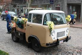 jeep fc 150 jeep forward control fc 150 decorated with daffodils in the