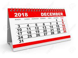 Calendario Diciembre 2018 De Diciembre Calendario 2018 De Fondo Blanco Ilustración 3d
