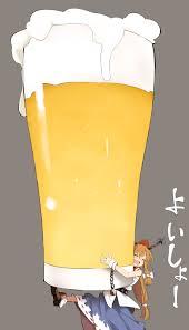 cartoon beer pint ibuki suika suika ibuki touhou image 951818 zerochan