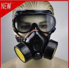 Masker Gas new 4pcs gas mask protection filter chemical gas respirator
