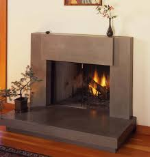 custom made contemporary polished concrete fireplace surround