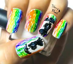 watercolor rainbow rain nail art tutorial starrynail