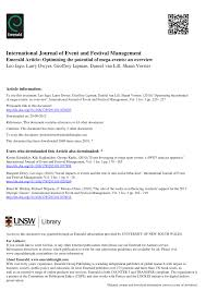 optimising the potential of mega events an overview pdf download