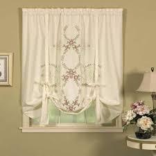 today u0027s curtain verona reverse embroidery tie up window shade