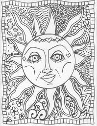 trippy sun moon coloring pages glum