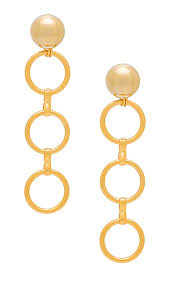 circle earrings laruicci linked circle earrings in gold revolve