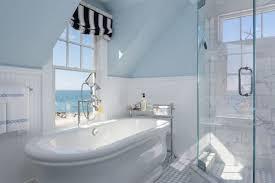 Wainscoting Over Bathroom Tile Large Bathroom With Flush Mount Lighting Over Freestanding Tub